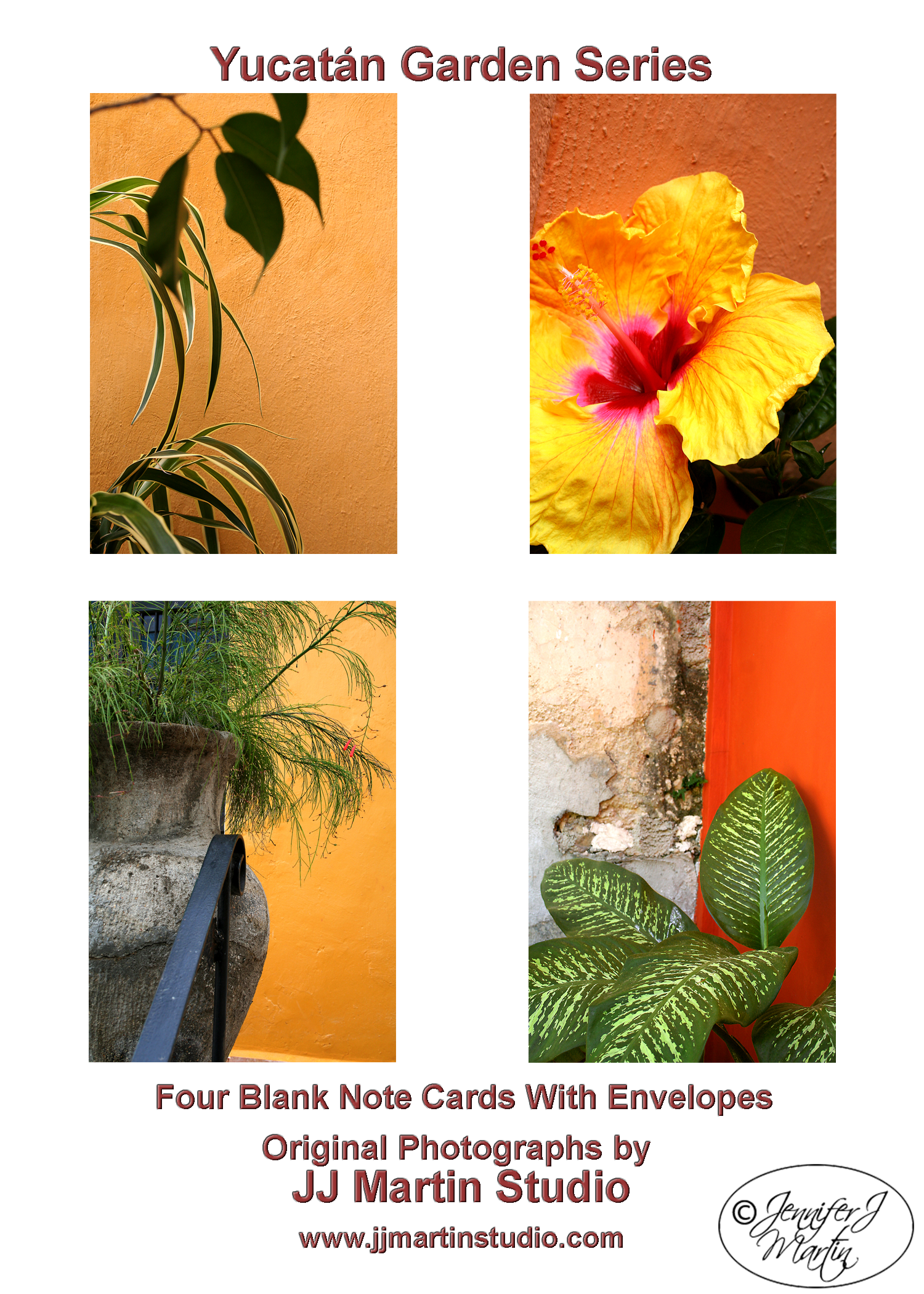 Yucatán Garden Series - 4 Card Set