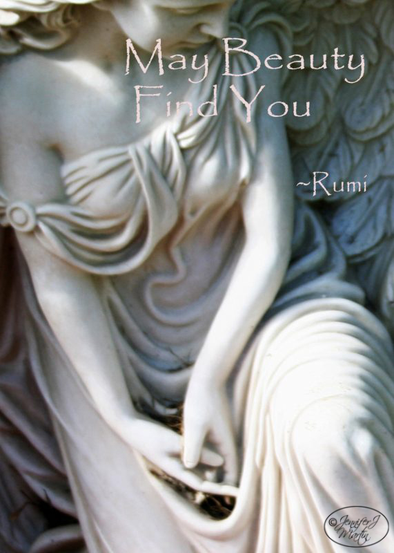 Rumi Quotes / On Wings of Angels / I Carry You in my Heart - 4 Card Set