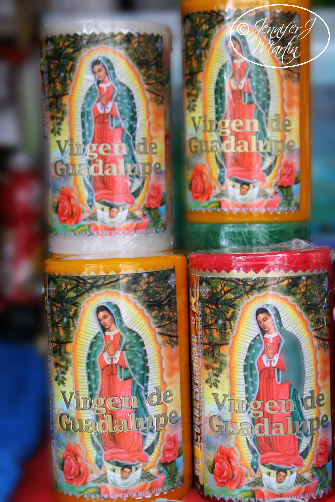 Virgen de Guadalupe - Four Candles