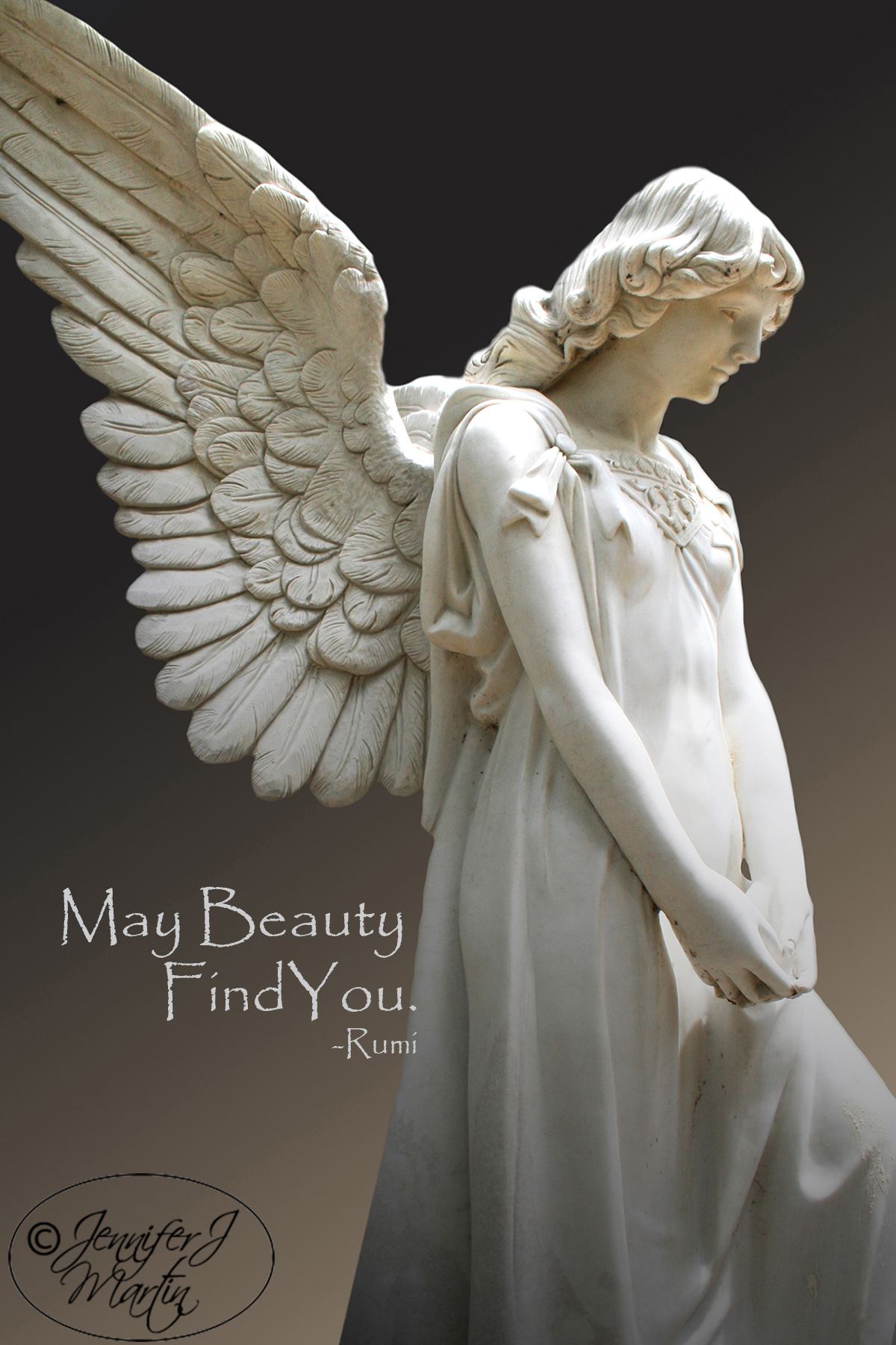 Danny's Angel - May Beauty Find You (Rumi Quote) Print