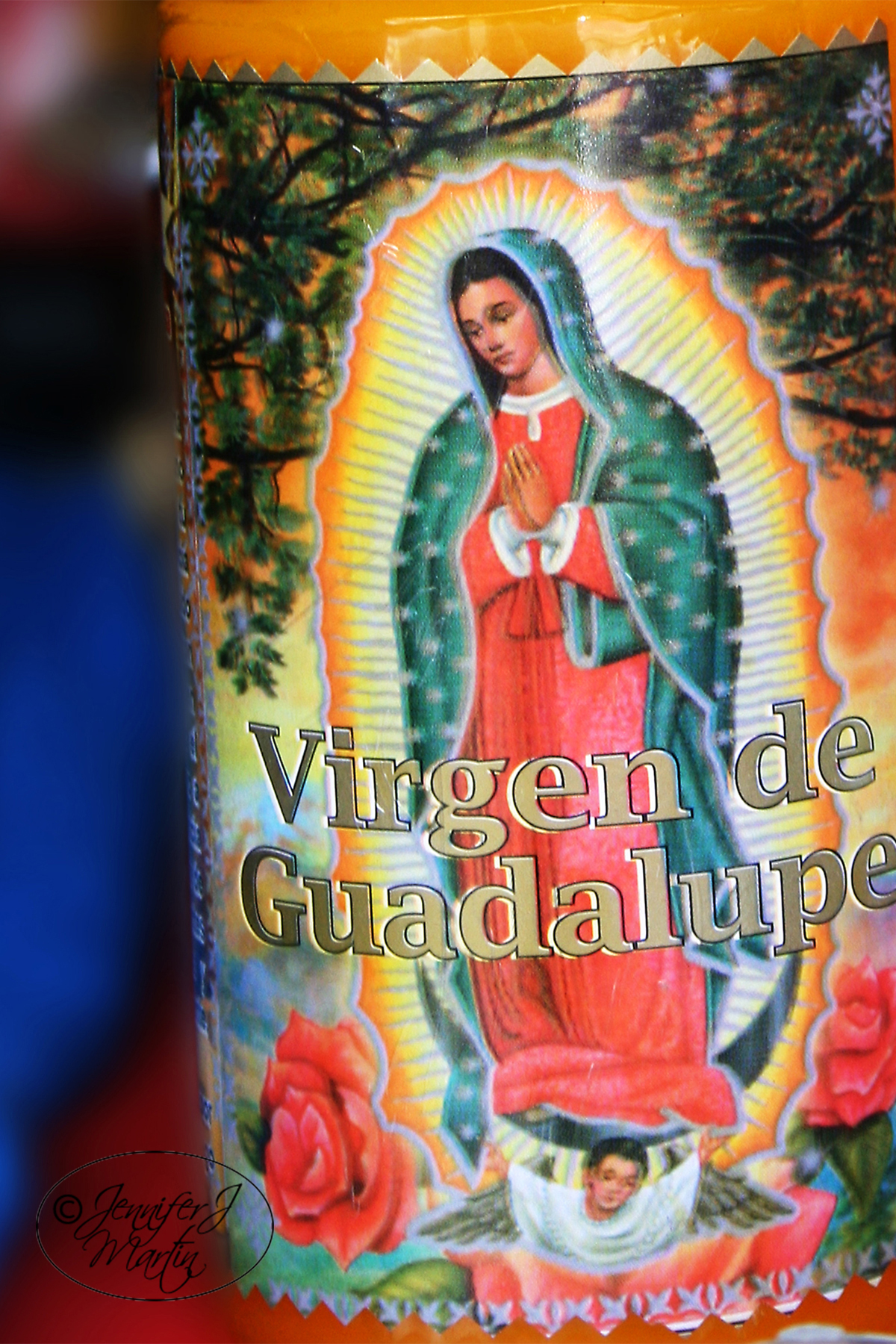 Virgen de Guadalupe (Single Candle) Print