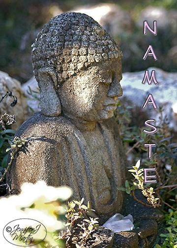 Zen Buddha (Namaste) Card