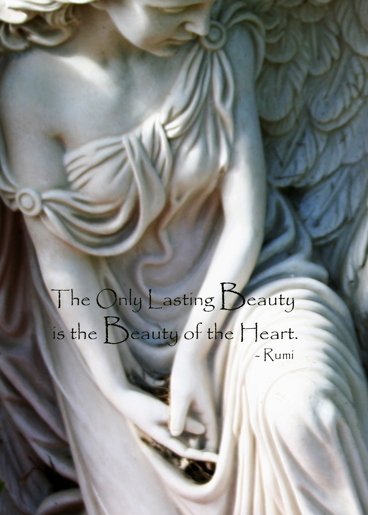 The Only Lasting Beauty (Rumi Quote) - Massimo's Angel