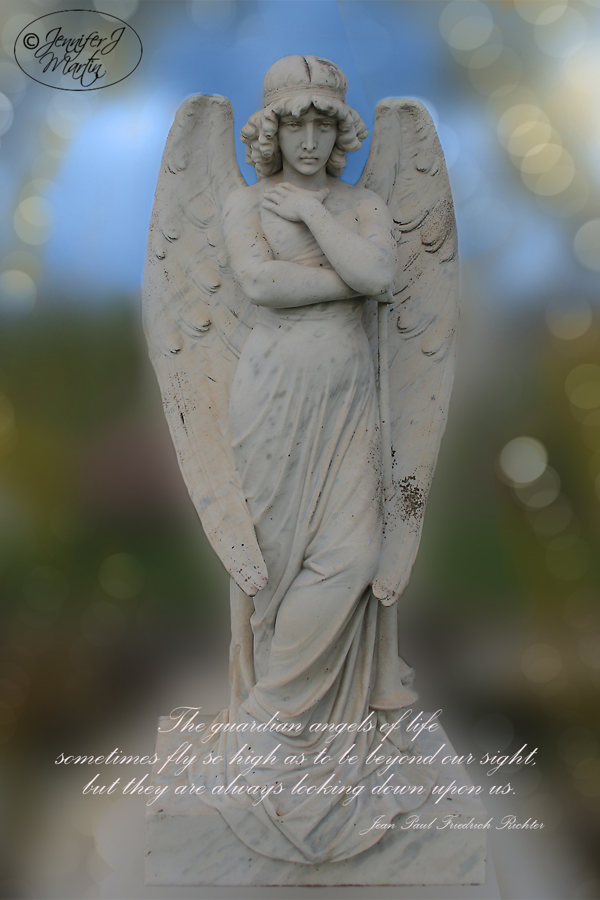 Guardian Angel - (With Guardian Angel Quote) Print